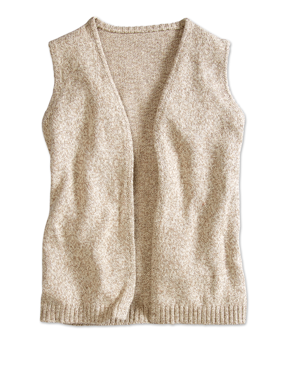 Open-Front Ragg Wool Sweater Vest