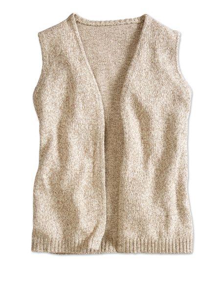 Open-Front Ragg Wool Sweater Vest