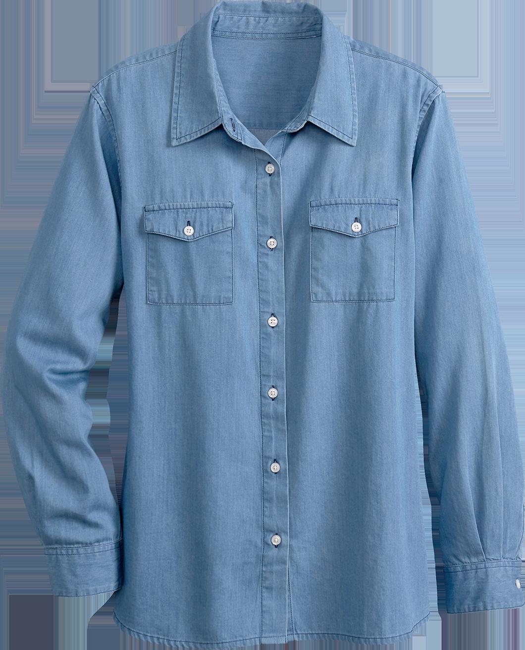 Women's Long-Sleeve Denim Shirt