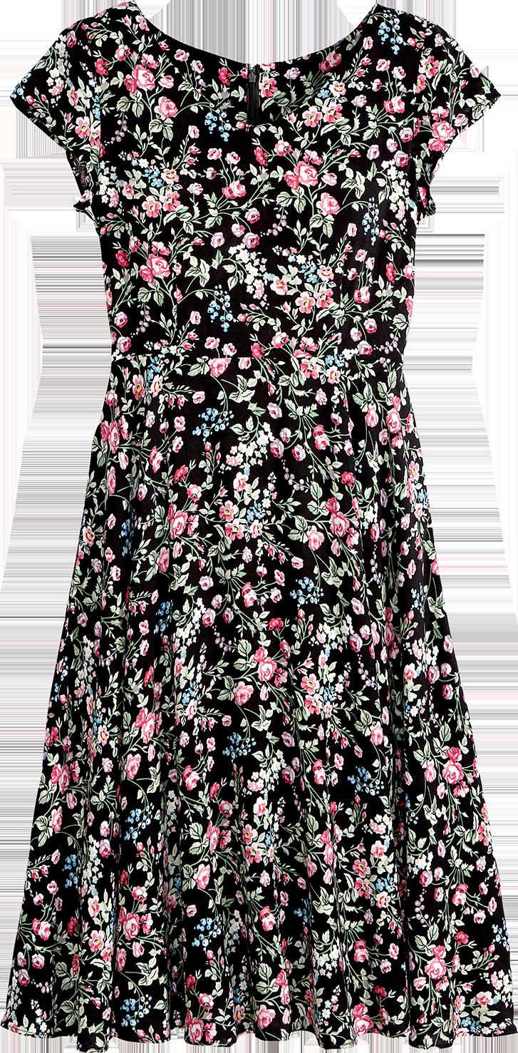 Lanz of Salzburg Floral Rayon Dress