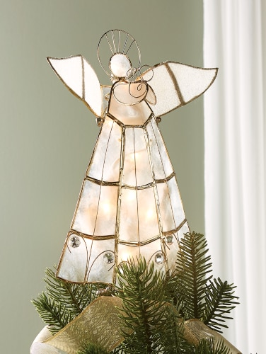 Tzxajbzl6w1jcm This christmas tree topper is the perfect summary of 2020 🎄. https www vermontcountrystore com lighted 11 quot capiz angel christmas tree topper product 83683