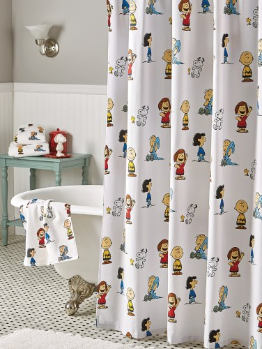 Cotton Twill Peanuts Gang Shower Curtain