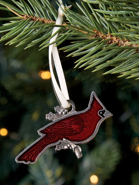 cardinal pewter ornament - Red Cardinal Christmas Decorations