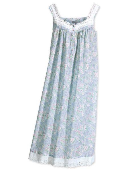 Lanz of Salzburg Cotton Eyelet Nightgown - Hummingbird Print 2155fdc66