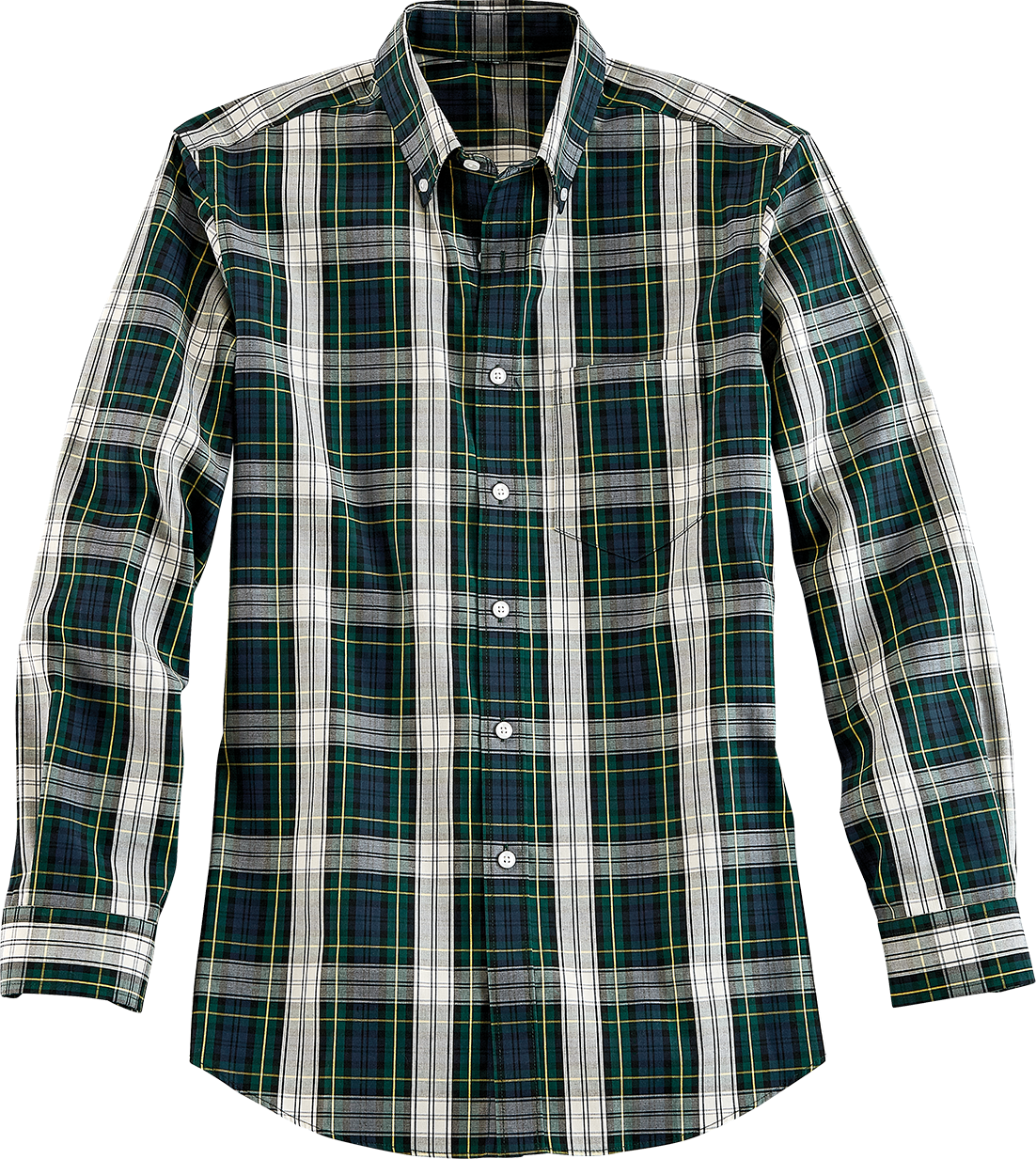 Orton Brothers Wrinkle-Free Tartan Oxford Shirt, Long Sleeve