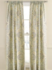 Antiqued Watercolor Rod Pocket Lined Curtains
