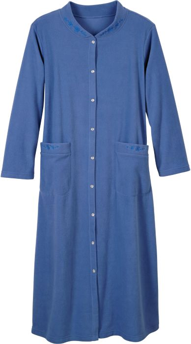 Embroidered Fleece Robe