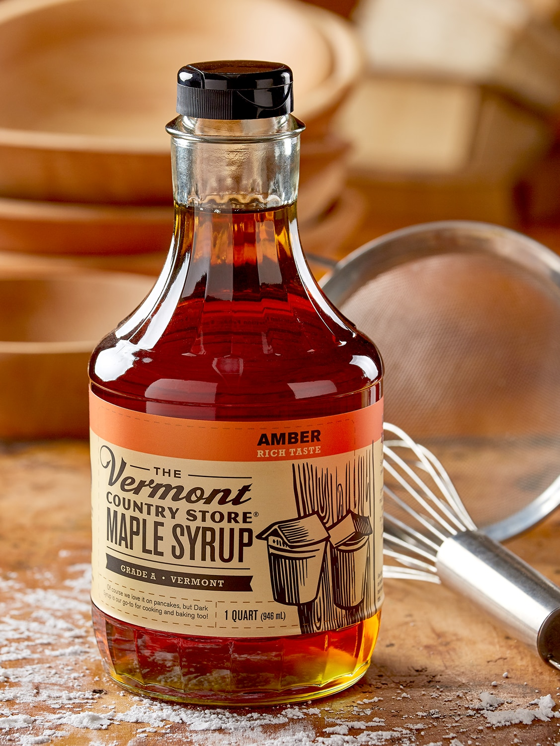 Amber Maple Syrup Quart Bottle