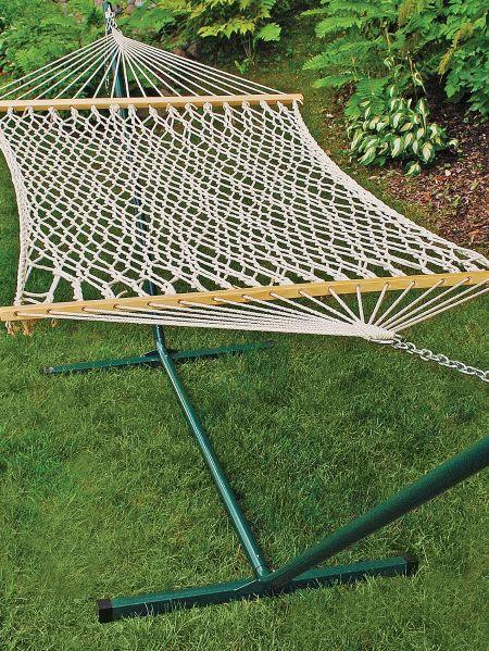 Woven Cotton Rope Hammock