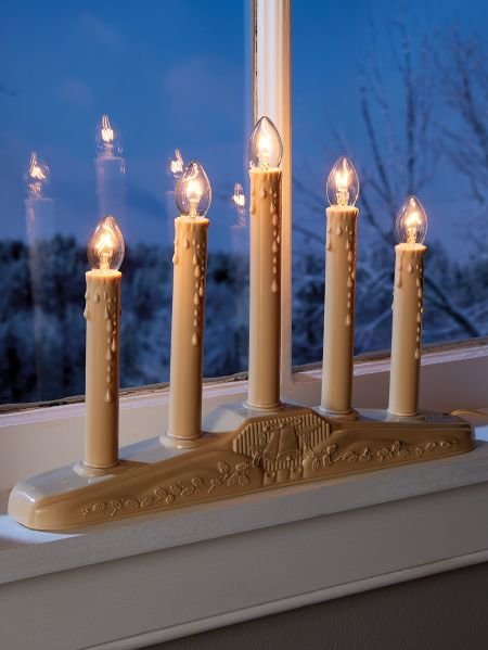 Christmas Window Candles | Lights in 3 and 5 Tiers
