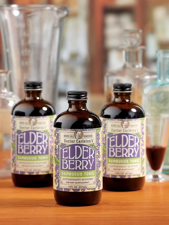 Doctor Carleton's Elderberry Tonic, 8 oz. Bottle
