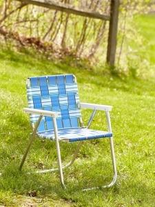 Folding Picnic Web Chairs Lightweight Aluminum Webbed Chair