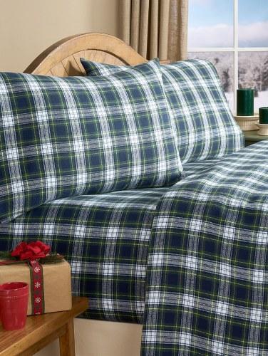 Ultra Soft Flannel Sheet Set Plaid Cotton Sheets