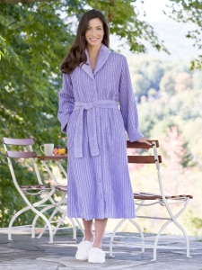 eb9807927ad Tufted Chenille Robe with Button Front