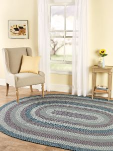Mt Mansfield Multi Color Braided Oval Rug