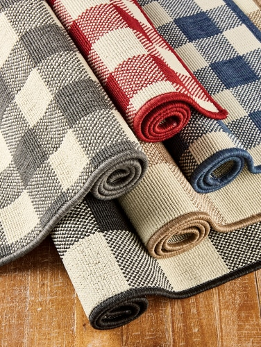Buffalo Check Rug Indoor Outdoor Use Vermont Country Store