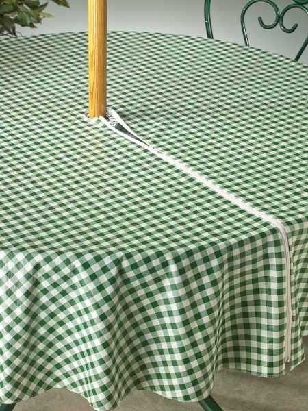 Outdoor Umbrella Tablecloth Vinyl With Zipper