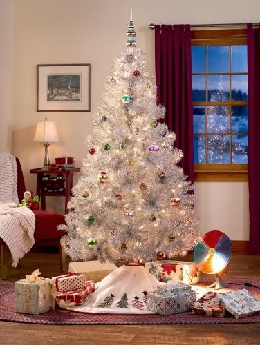 Tinsel Christmas Tree With Lights