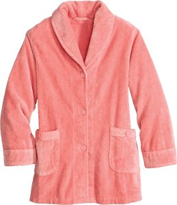 fleece jacket collections la bed jackets tagged sleepwear cotton cera taupe