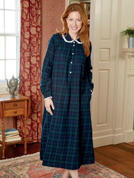 723ee01c58 Lanz Classic Flannel Nightgown