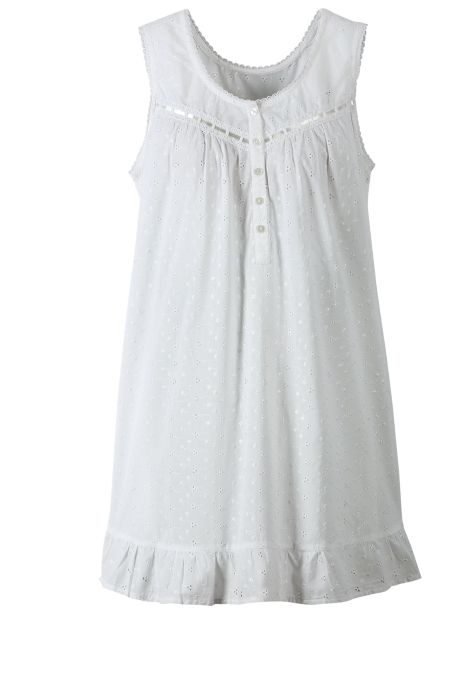 d42eef4afa Cotton Eyelet Chemise Nightgown