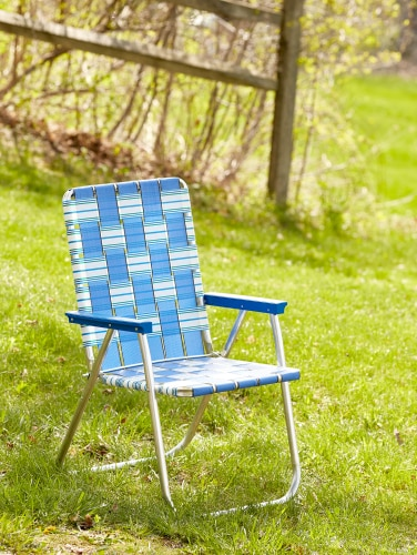Webbed Aluminum Lawn Chair Summer
