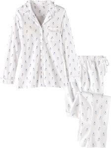 Eileen West Royal Rosebud Ruffle Trim Pajamas 96dbeacd1