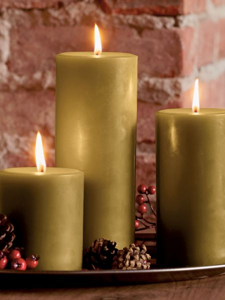 bayberry candle hand poured pillar candles