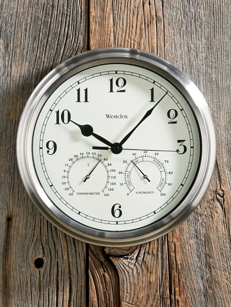 Big Ben Indoor/Outdoor Wall Clock With Thermometer
