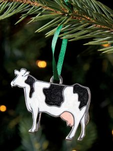 Holstein Calf Cow New Born Life Size Statue Farm Prop ... |Holstein Cow Decorations