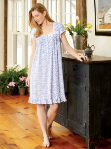 Eileen West Floral Lace Modal Nightgown 43f513af6