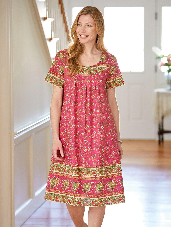 eb27d82b6e1 Lightweight Cotton Knee Length Muumuu Dress
