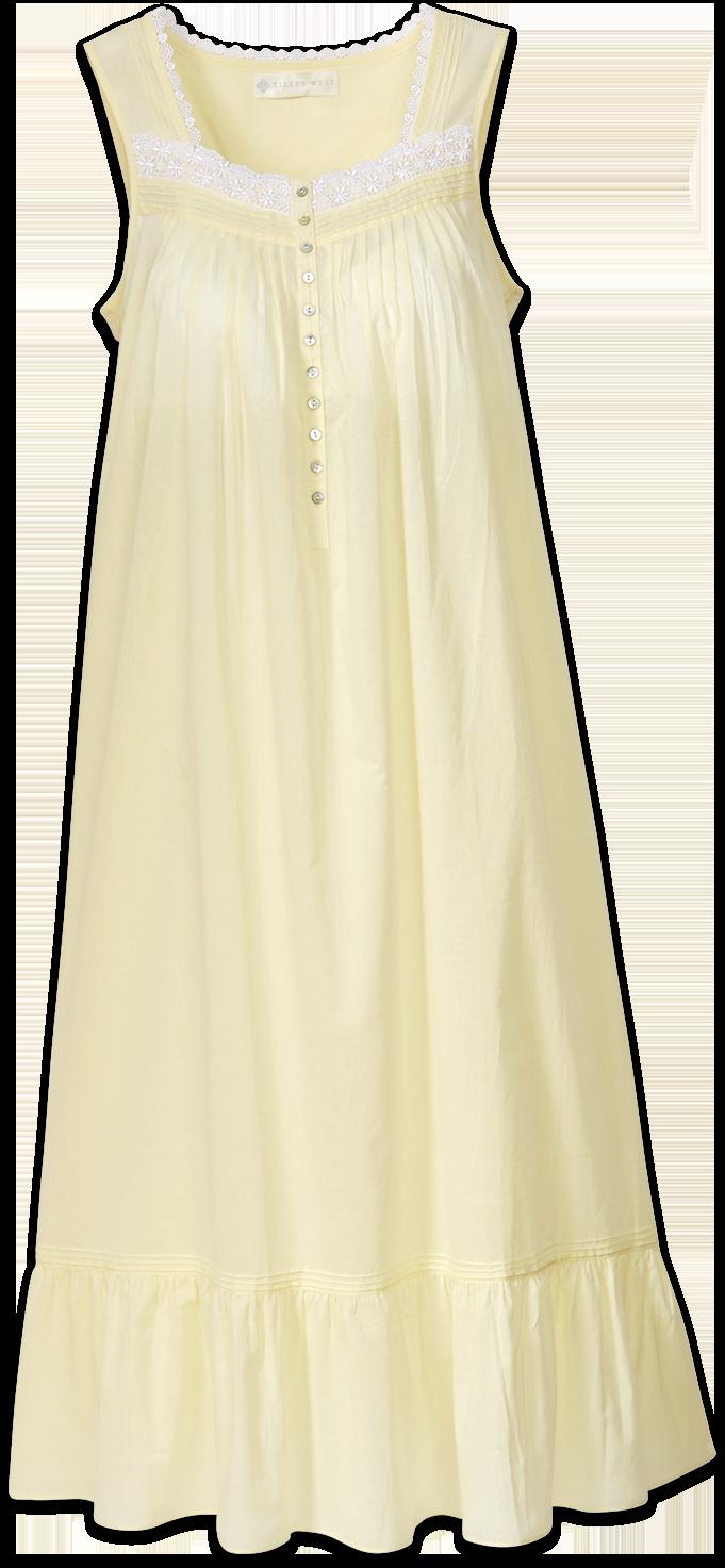 Pajama Dress Faith Yellow Nightgown