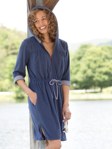97840b8f36 Terry Beach Cover Up With Full Zipper Front