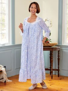 Eileen West Blue Rose Robe 14c0c5b53