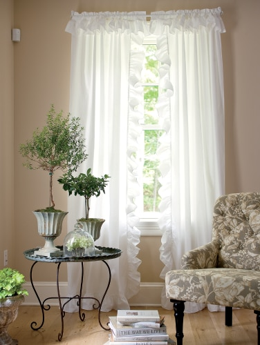 Wide Ruffled Priscilla Curtain Panels