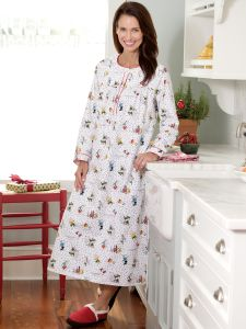 5cd50877ea Womens Flannel Pajamas | Flannel Nightgowns For Women