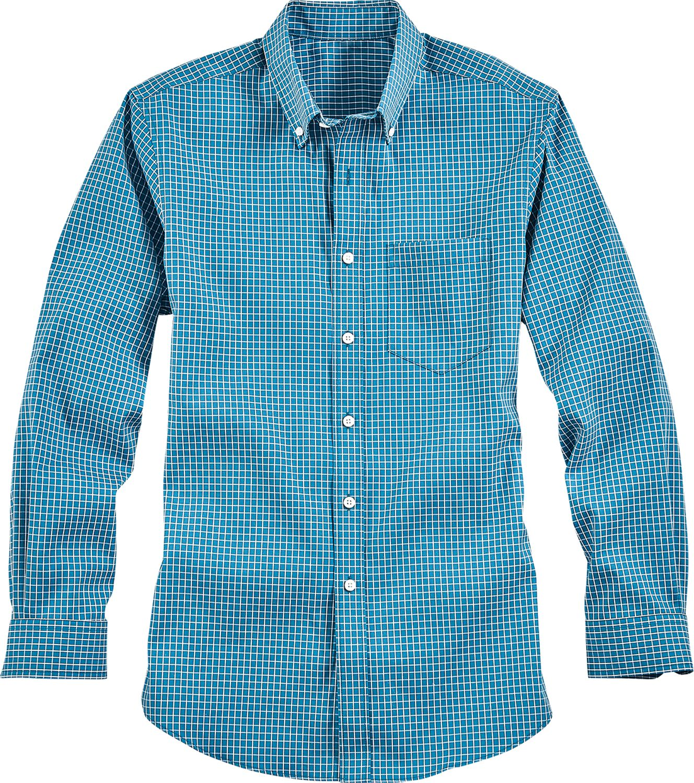 d837bf6cd Mens Wrinkle-Free Mini Check Long Sleeve Shirt