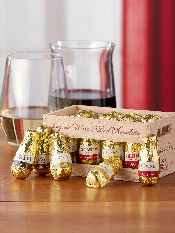 Belgian Wine Filled Chocolate Bottles