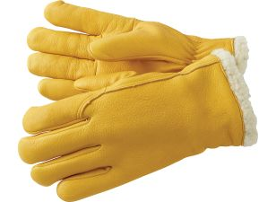 0390e7e6a Deerskin Gloves with Sherpa Pile Lining