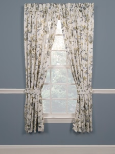 Abigail Window Curtains Vintage Inspired Flower Drapes