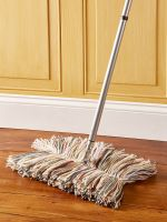 Old Fashioned Dust Mop - Dry Floor Wool Mop