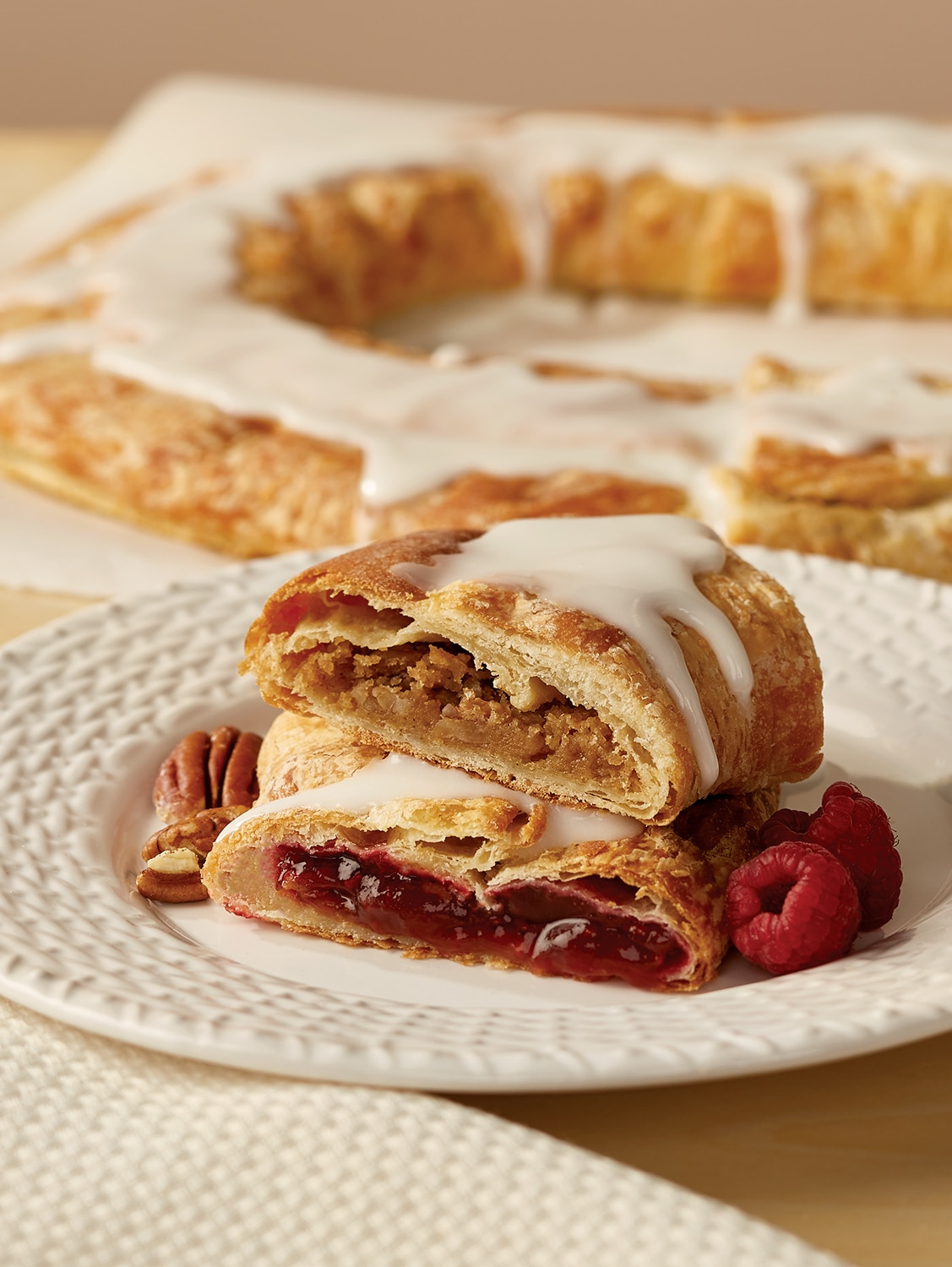 Classic Kringle Cake Danish Coffee Cakes 2 Pack