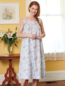 6b334238af1f Ella Simone Floral Eyelet Trim Nightgown