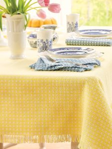 Mountain Weave Cotton Tablecloth