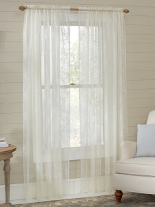 Sheer Rod Pocket Window Curtain Panel Divine Collection