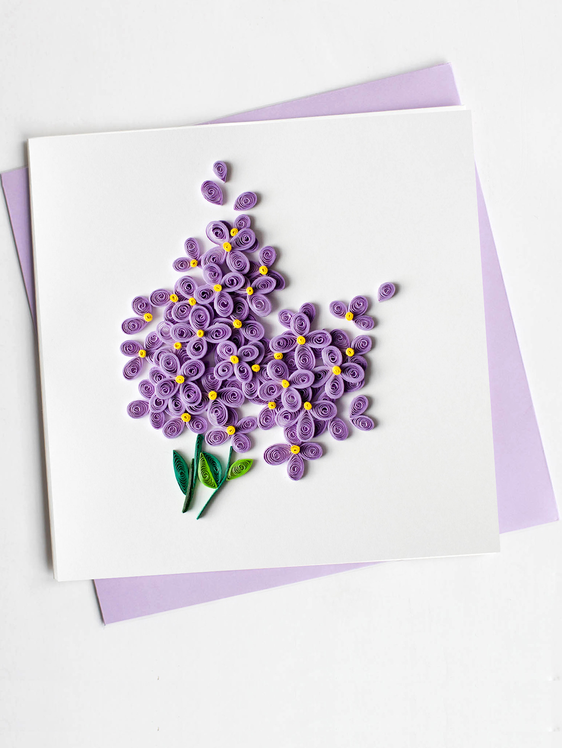 Quilling Lilac Greeting Card, 2 Cards