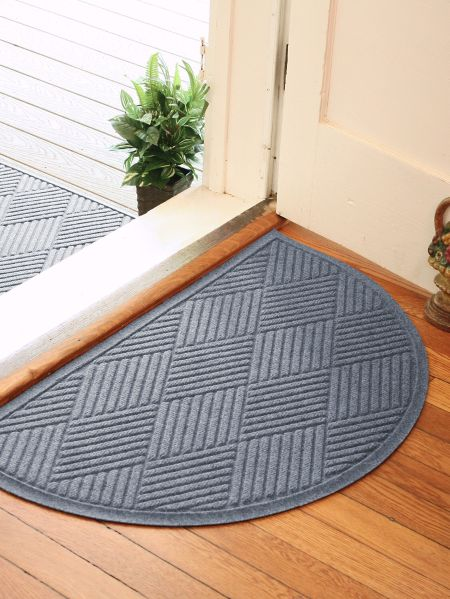 Half Circle Waterhog Mat Indoor Outdoor Doormats