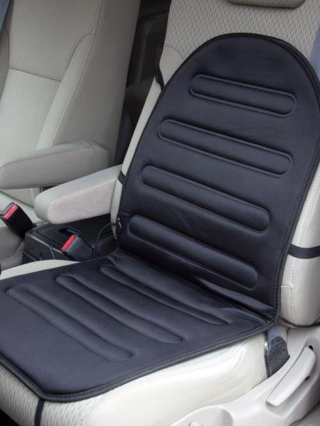 Heated Car Seat Cushion Plugs Into 12V Cigarette Lighter Socket