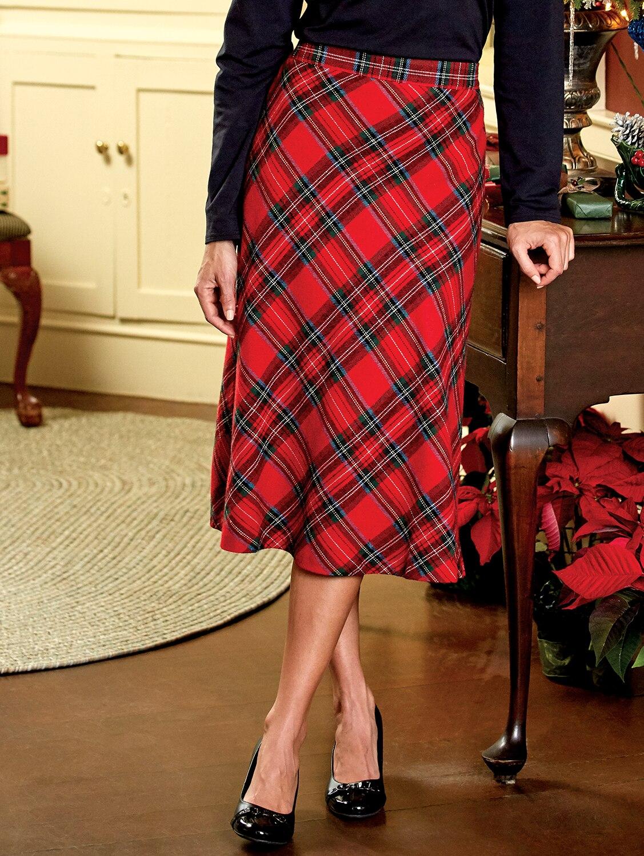 Plaid Checkered Skirt